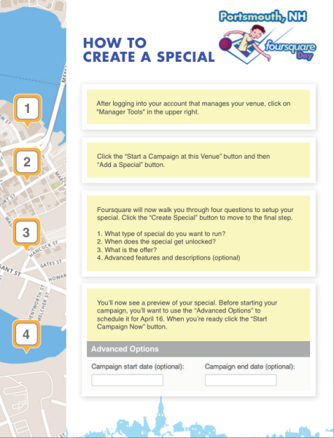 How To Create A Foursquare Special - Click To Enlarge